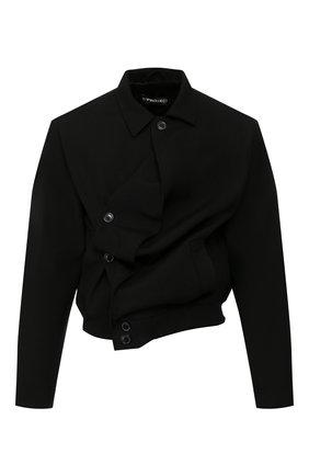 Мужской шерстяная куртка Y/PROJECT черного цвета, арт. JACK58-S18 F01 | Фото 1