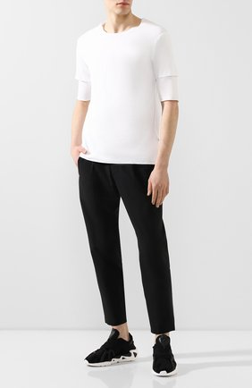Мужской брюки KAZUYUKI KUMAGAI черного цвета, арт. AP01-213 | Фото 2