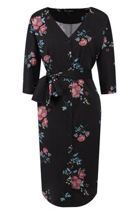 Женское хлопковое платье TEREKHOV GIRL черного цвета, арт. 2D185/3620.ER900/S20 | Фото 1