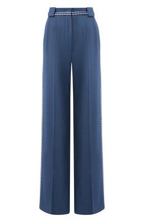 Женские шерстяные брюки FENDI синего цвета, арт. FR6240 A8D5 | Фото 1
