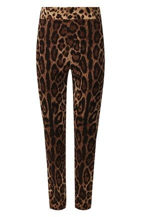 Женские шелковые брюки  DOLCE & GABBANA леопардового цвета, арт. FTBJQT/FSADD | Фото 1