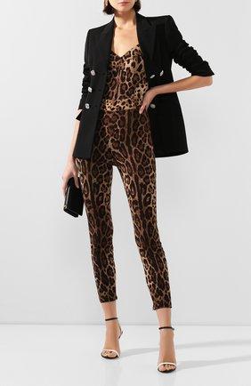 Женские шелковые брюки  DOLCE & GABBANA леопардового цвета, арт. FTBJQT/FSADD | Фото 2