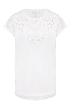Женская хлопковая футболка ESCADA SPORT белого цвета, арт. 5032616 | Фото 1