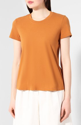 Женская хлопковая футболка JAMES PERSE коричневого цвета, арт. WLJ3114 | Фото 3