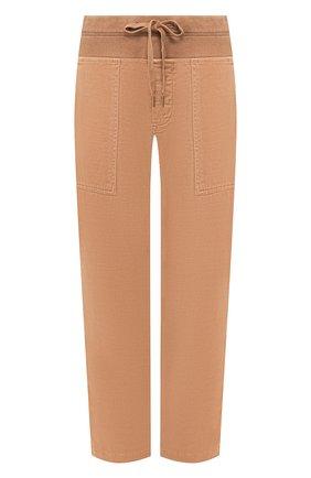 Женские хлопковые брюки JAMES PERSE коричневого цвета, арт. WACS1862 | Фото 1