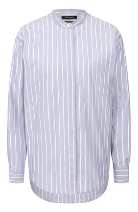 Женская рубашка из хлопка и шелка ISABEL MARANT голубого цвета, арт. CH0615-20P018I/WATCHELL | Фото 1