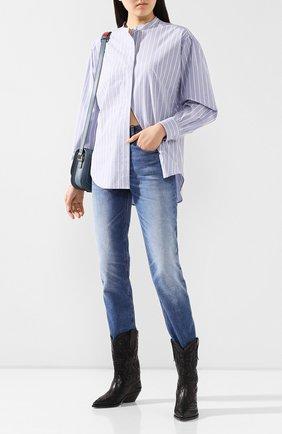 Женская рубашка из хлопка и шелка ISABEL MARANT голубого цвета, арт. CH0615-20P018I/WATCHELL | Фото 2