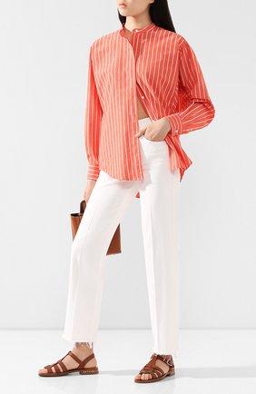 Женская рубашка из хлопка и шелка ISABEL MARANT красного цвета, арт. CH0615-20P018I/WATCHELL | Фото 2