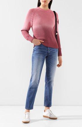 Женская хлопковый свитер MONCLER розового цвета, арт. F1-093-9C711-60-V9088 | Фото 2
