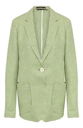 Женский жакет из смеси шерсти и льна  WINDSOR зеленого цвета, арт. 52 DS319 10009026 | Фото 1
