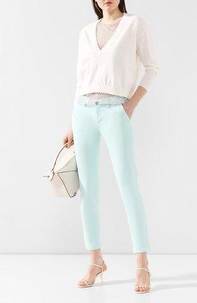 Женские джинсы WINDSOR бирюзового цвета, арт. 52 KAIA 10007049 | Фото 2