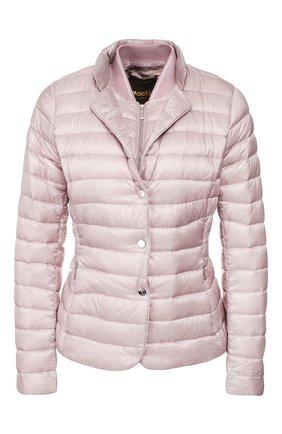 Женская пуховая куртка MOORER розового цвета, арт. SULLA-LG/P20D280LIGH   Фото 1