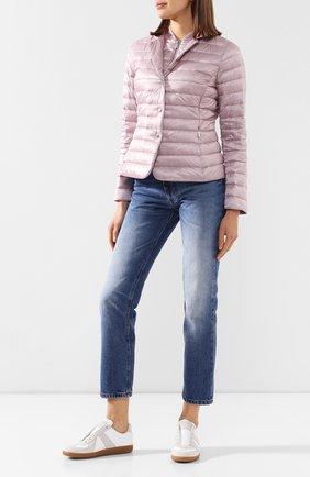 Женская пуховая куртка MOORER розового цвета, арт. SULLA-LG/P20D280LIGH   Фото 2