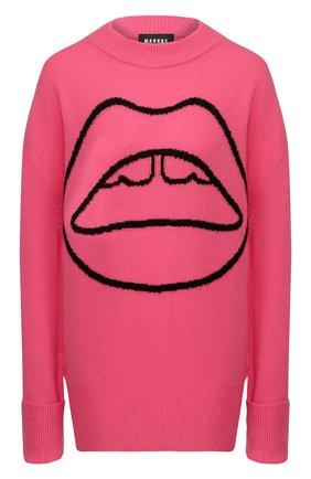 Женская шерстяной свитер  MARKUS LUPFER малинового цвета, арт. KN2848 | Фото 1