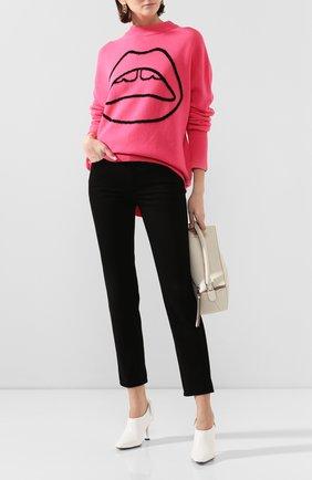 Женская шерстяной свитер  MARKUS LUPFER малинового цвета, арт. KN2848 | Фото 2