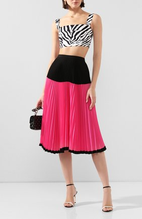 Женская плиссированная юбка MARKUS LUPFER фуксия цвета, арт. SK466 | Фото 2