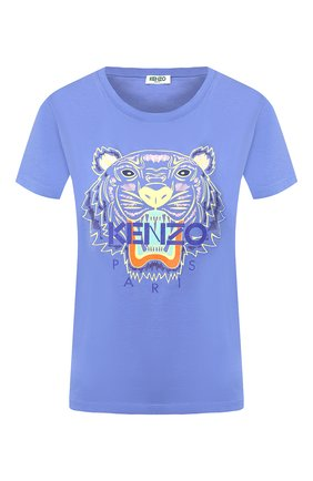Женская хлопковая футболка KENZO сиреневого цвета, арт. FA52TS7214YB | Фото 1