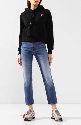 Женские джинсы AMI синего цвета, арт. E20FD010.601 | Фото 2