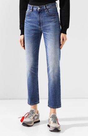 Женские джинсы AMI синего цвета, арт. E20FD010.601 | Фото 3