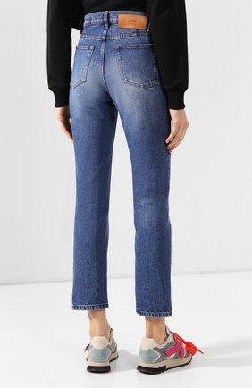 Женские джинсы AMI синего цвета, арт. E20FD010.601 | Фото 4
