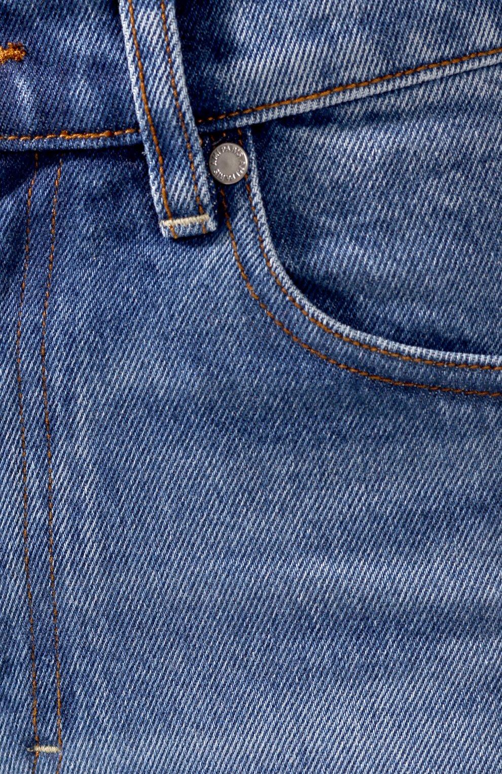 Женские джинсы AMI синего цвета, арт. E20FD010.601 | Фото 5