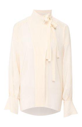 Женская шелковая блузка CHLOÉ белого цвета, арт. CHC20UHT16307 | Фото 1