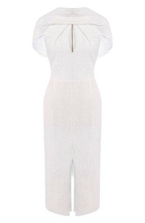 Женское шелковое платье ROLAND MOURET белого цвета, арт. SS20/S0911/F0436 | Фото 1