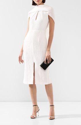 Женское шелковое платье ROLAND MOURET белого цвета, арт. SS20/S0911/F0436 | Фото 2