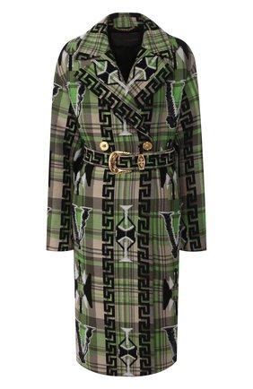 Женское шерстяное пальто VERSACE зеленого цвета, арт. A85025/A232890   Фото 1
