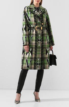 Женское шерстяное пальто VERSACE зеленого цвета, арт. A85025/A232890   Фото 2