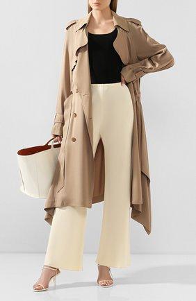Женские брюки из вискозы THE ROW кремвого цвета, арт. 1766W730 | Фото 2