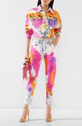 Женские джинсы VERSACE разноцветного цвета, арт. A85386/A228455 | Фото 2