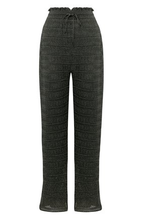 Женские брюки из вискозы M MISSONI темно-зеленого цвета, арт. 2DI00135/2K004M | Фото 1