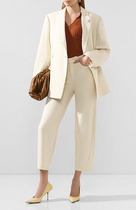 Женские хлопковые брюки TOTÊME бежевого цвета, арт. N0VARA 202-209-713 | Фото 2