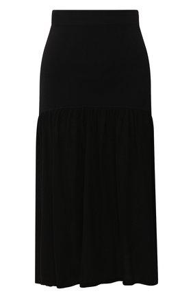 Женская юбка из вискозы TOTÊME черного цвета, арт. M0NTAGU 202-305-755 | Фото 1