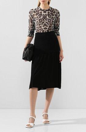 Женская юбка из вискозы TOTÊME черного цвета, арт. M0NTAGU 202-305-755 | Фото 2
