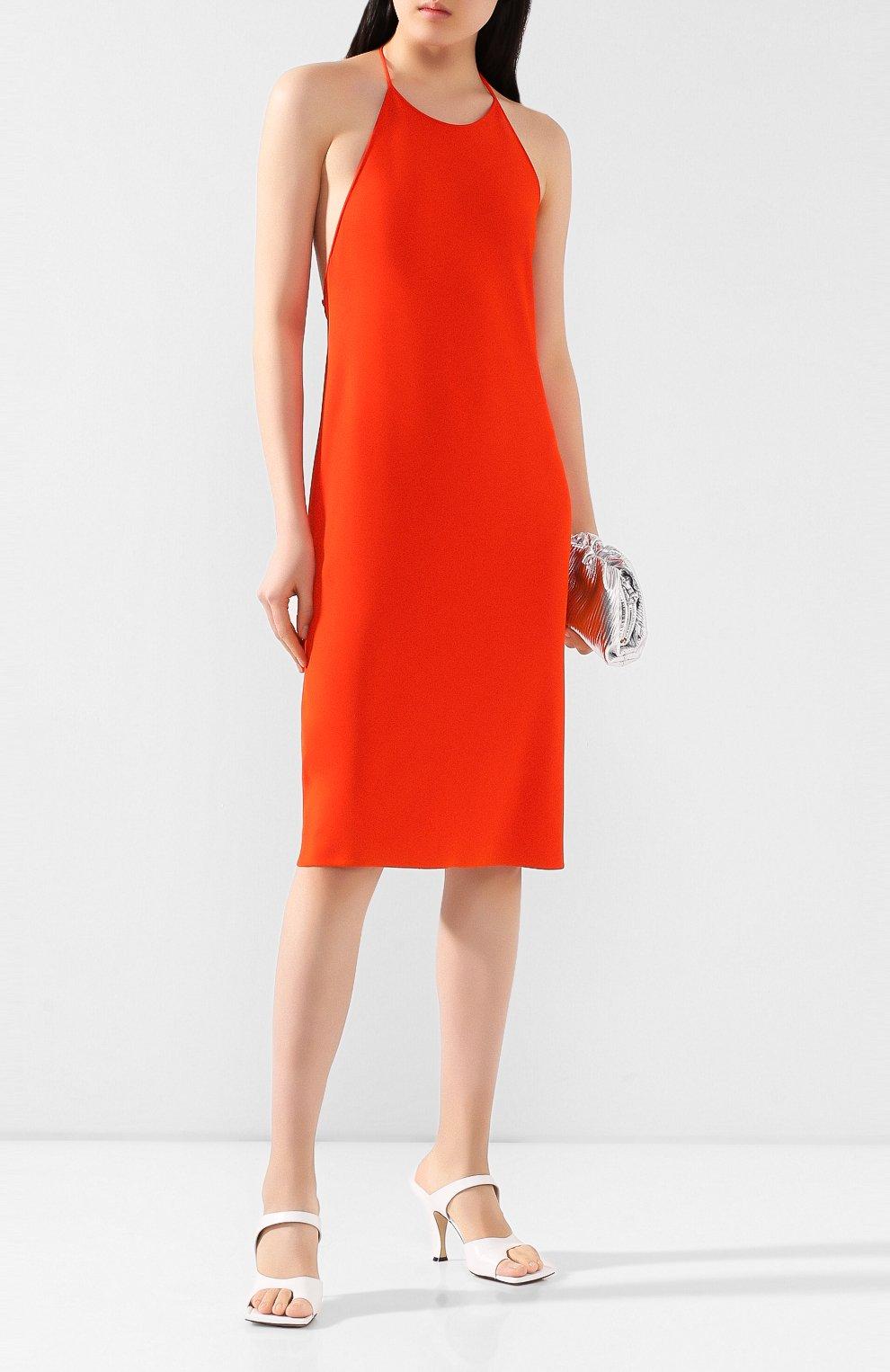 Женское платье из вискозы BOTTEGA VENETA оранжевого цвета, арт. 616993/VKI60 | Фото 2