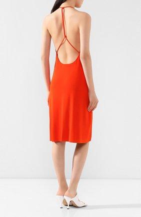 Женское платье из вискозы BOTTEGA VENETA оранжевого цвета, арт. 616993/VKI60 | Фото 4