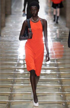 Женское платье из вискозы BOTTEGA VENETA оранжевого цвета, арт. 616993/VKI60 | Фото 6
