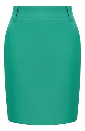 Женская шерстяная юбка BALENCIAGA зеленого цвета, арт. 622283/TGT09 | Фото 1