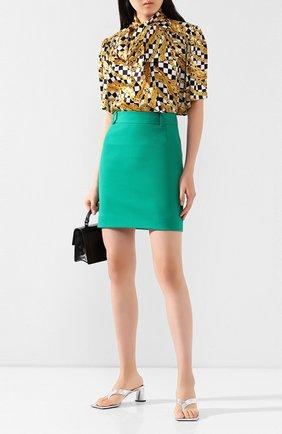 Женская шерстяная юбка BALENCIAGA зеленого цвета, арт. 622283/TGT09   Фото 2