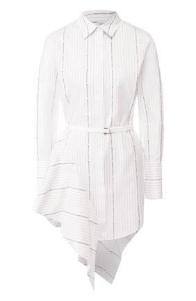 Женское хлопковое платье OFF-WHITE белого цвета, арт. 0WDB216R20H381220110 | Фото 1