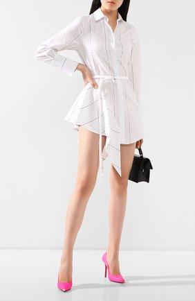 Женское хлопковое платье OFF-WHITE белого цвета, арт. 0WDB216R20H381220110 | Фото 2