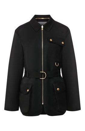 Женская куртка из вискозы и льна ESCADA SPORT черного цвета, арт. 5032683 | Фото 1