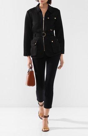 Женская куртка из вискозы и льна ESCADA SPORT черного цвета, арт. 5032683 | Фото 2