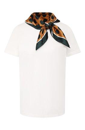 Хлопковая футболка с платком   | Фото №1