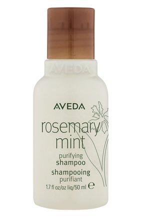 Женский очищающий шампунь для волос c экстрактом мяты и розмарина AVEDA бесцветного цвета, арт. 018084998137 | Фото 1