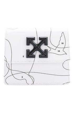 Женская поясная сумка 0.7 jitney OFF-WHITE белого цвета, арт. 0WNA093S20LEA0030110 | Фото 1