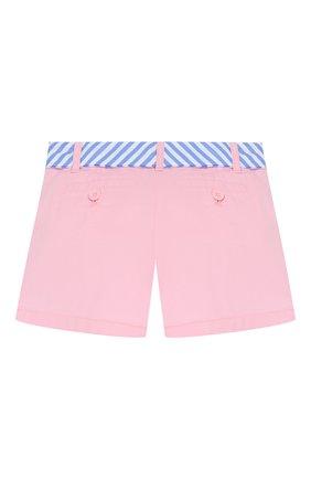 Детские хлопковые шорты POLO RALPH LAUREN розового цвета, арт. 311786044 | Фото 2
