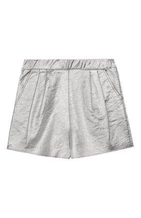 Детские шорты DOUUOD серебряного цвета, арт. 20E/U/JR/FC01/2211/4A-8A | Фото 1